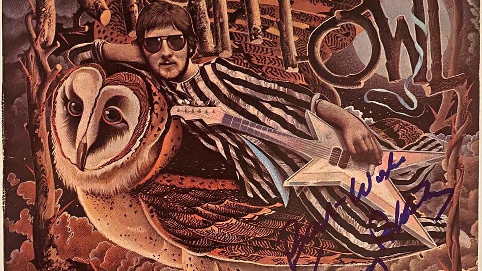 Gerry Rafferty Night Owl LP Cover Autographed