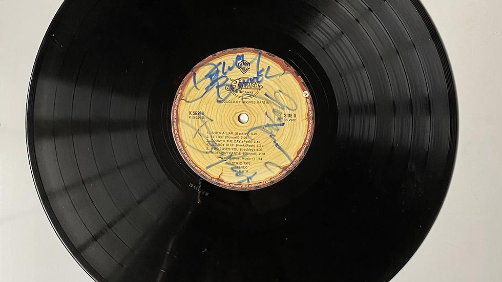 America Hideaway Vinyl Record Autographed