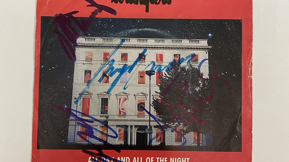 The Stranglers All Day And All Night Single Cover Autographed