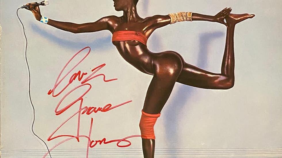 Grace Jones Island Life LP Cover Autographed