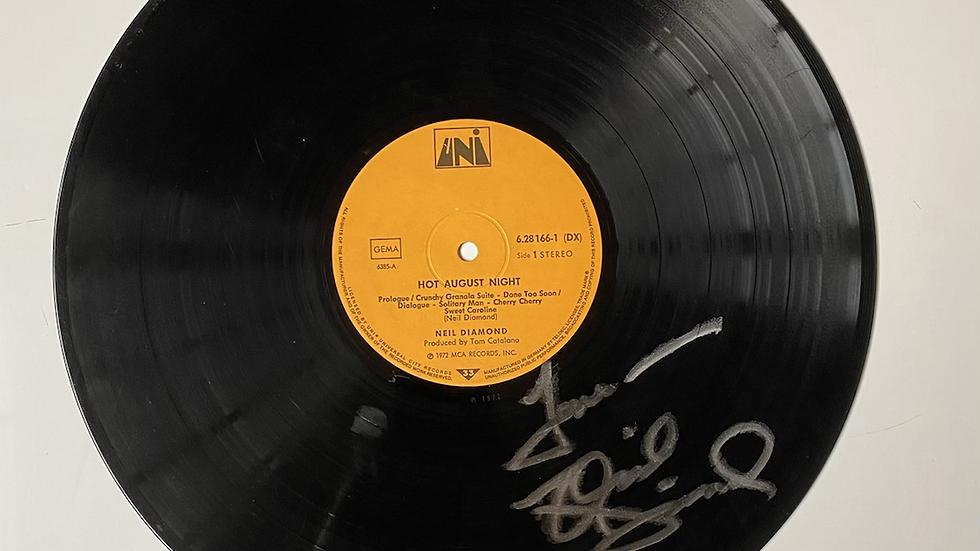 Neil Diamond Hot August Night Vinyl Record Autographed