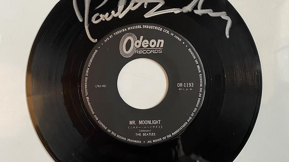 The Beatles Paul McCartney Mr. Moonlight Japanese Single Autographed