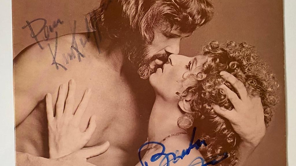 Barbara Streisand A Star Is Born LP Cover Autographed