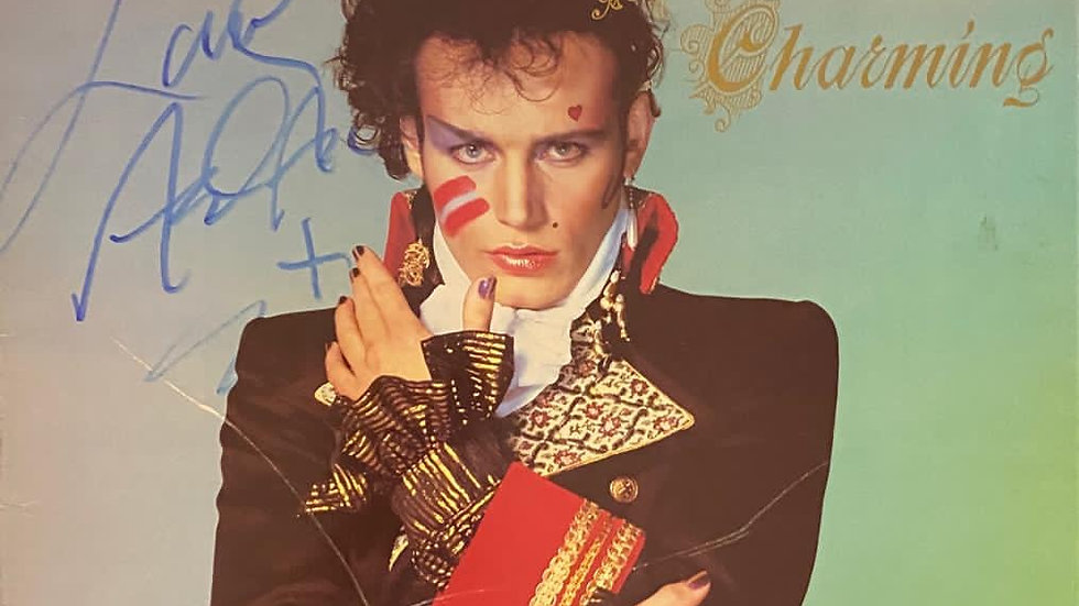 Adam And The Ants Prince Charming LP Cover Autographed