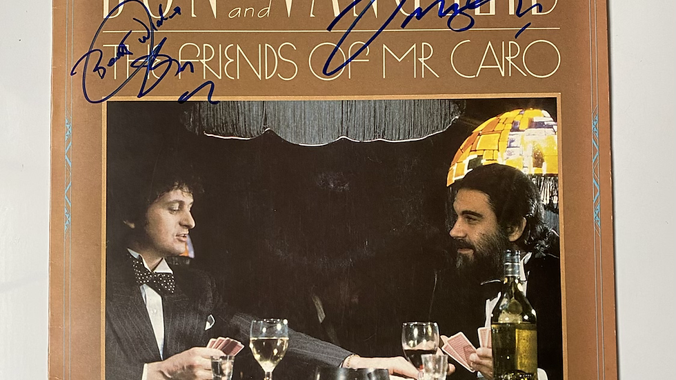 Jon And Vangelis The Friends of Mr. Cairo LP Cover Autographed