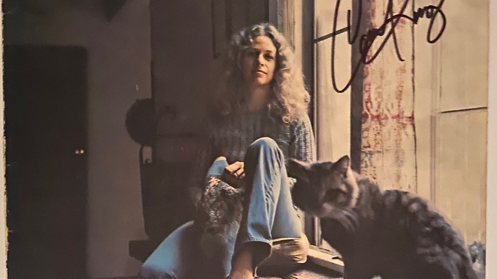 Carole King Tapestry LP Cover Autographed