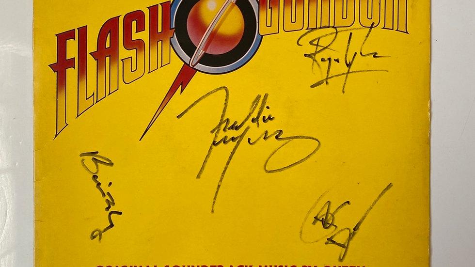 Queen Flash Gordon LP Cover Autographed