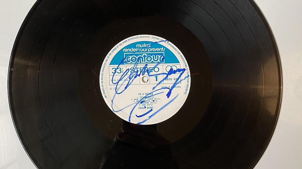 Chuck Berry I'm A Rocker Vinyl Record Autographed
