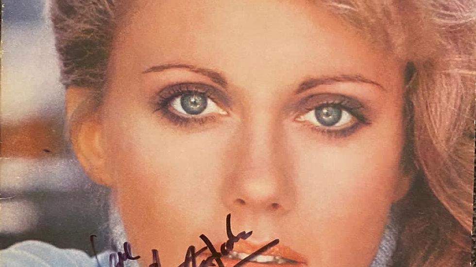 Olivia Newton-John Greatest Hits LP Cover Autographed