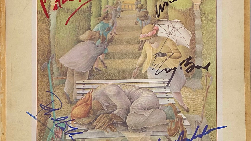 Genesis Selling England By The Pound LP Cover Autographed