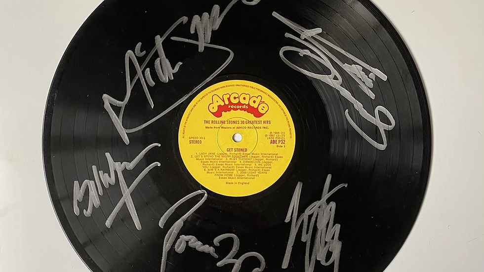 The Rolling Stones Get Stoned Vinyl Record Autographed