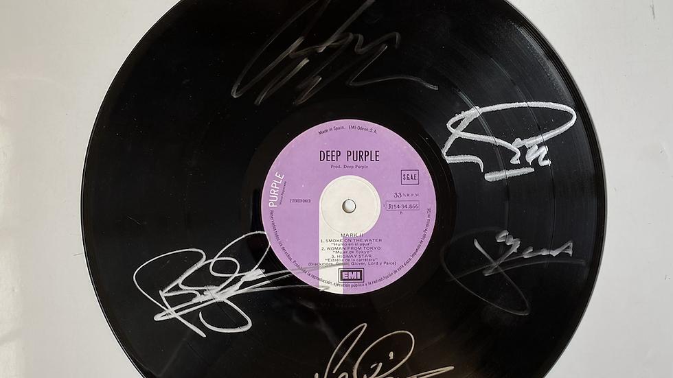 Deep Purple Mark II Vinyl Record Autographed