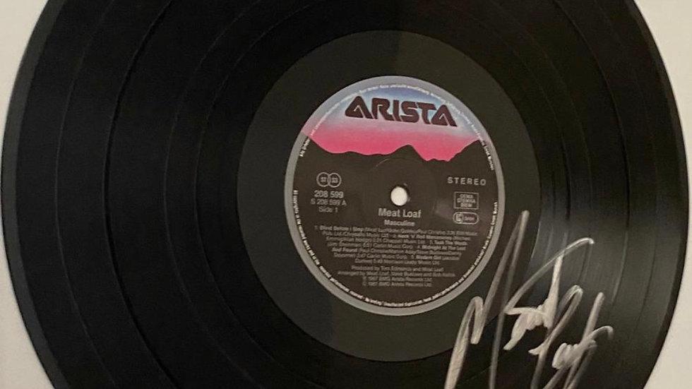 Meatloaf Masculine Vinyl Record Autographed