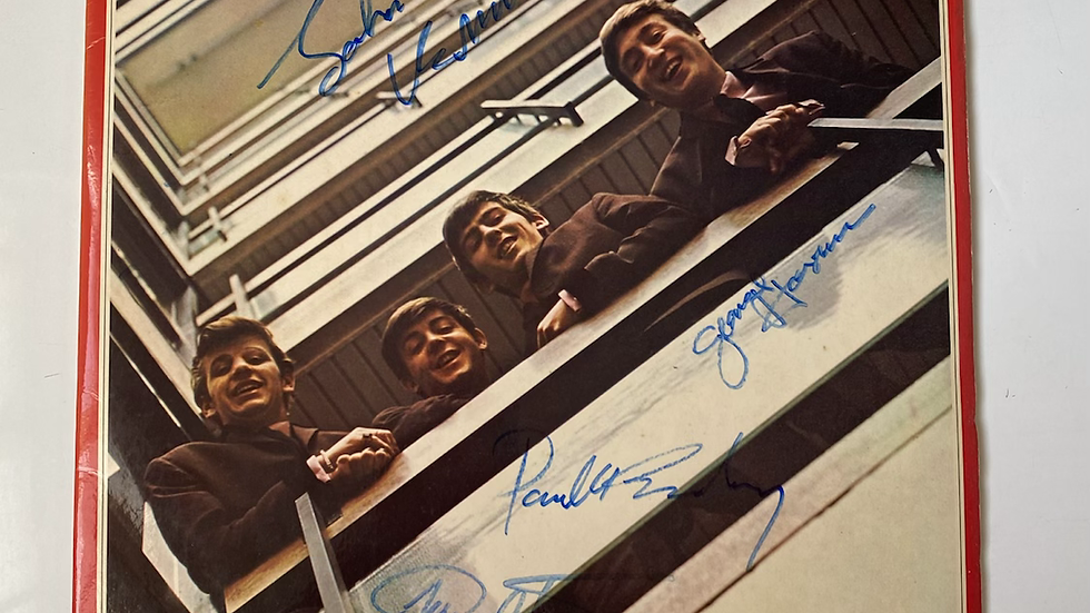 The Beatles 1962 - 1966 LP Cover Autographed