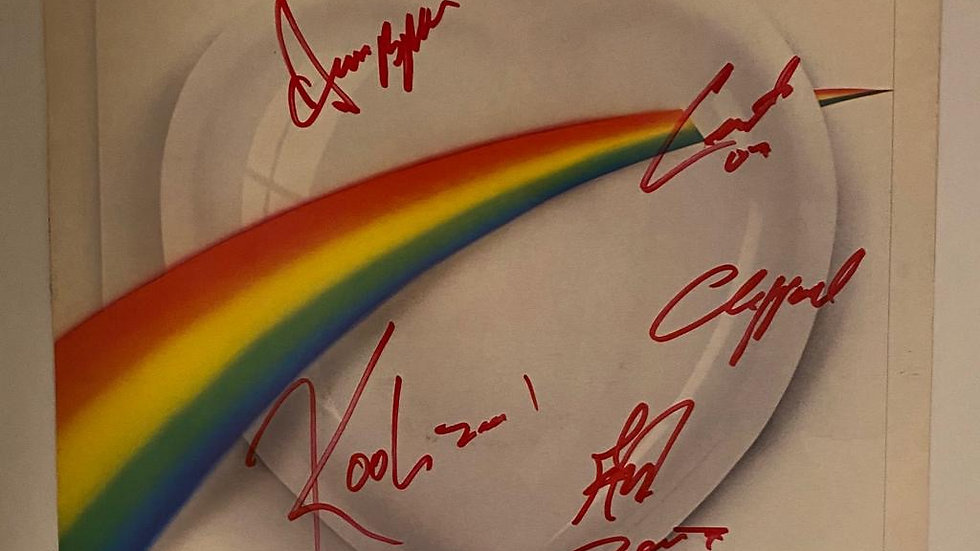 Kool & The Gang In The Heart LP Cover Autographed