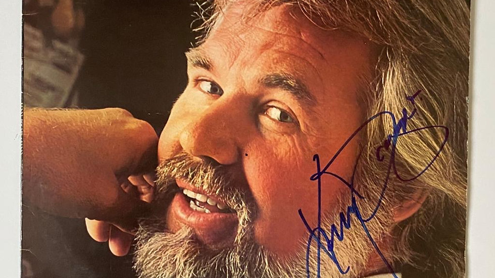 Kenny Rogers Kenny LP Cover Autographed