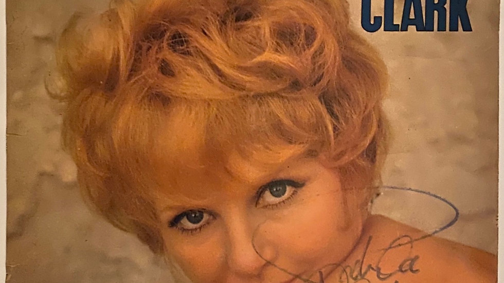 Petula Clark LP Cover Autographed