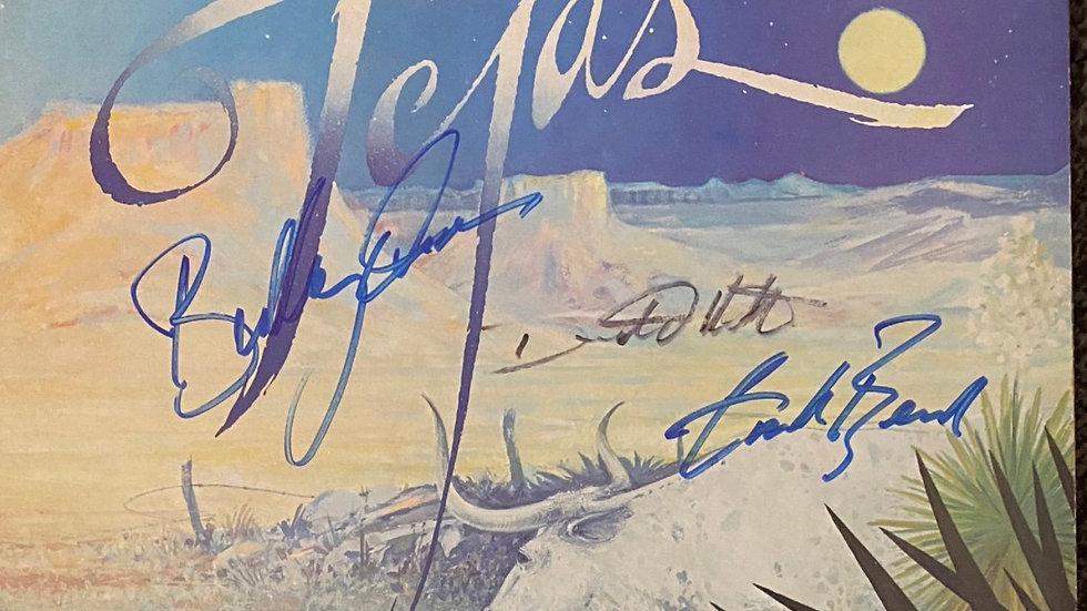 ZZ Top Tejas LP Cover Autographed