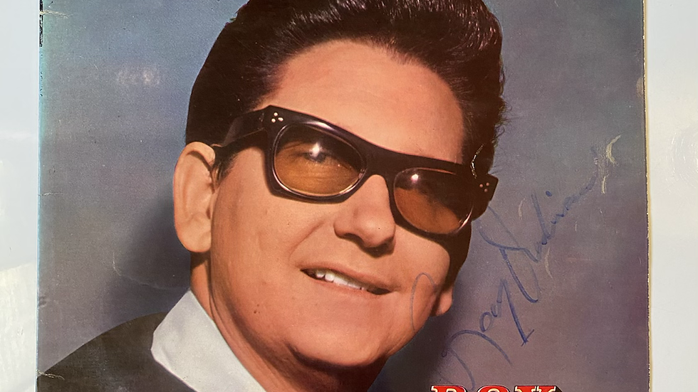 The Exciting Sounds Of Roy Orbison LP Cover Autographed