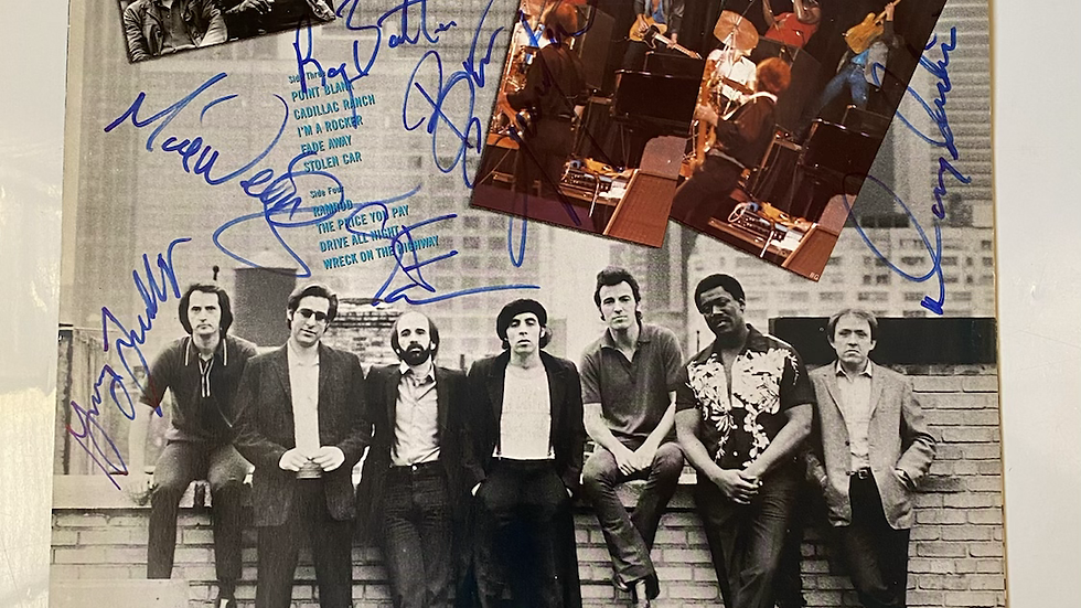 Bruce Springsteen The River Inner Sleeve Autographed