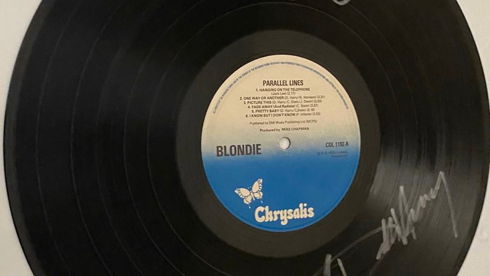 Blondie Parallel Lines Vinyl Record Autographed