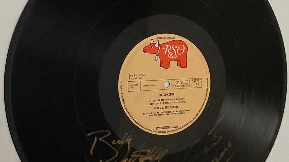 Derek & The Dominoes In Concert Vinyl Record Autographed