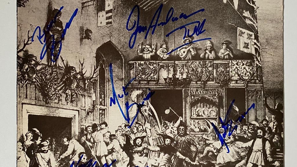Jethro Tull Minstrel In The Gallery LP Cover Autographed