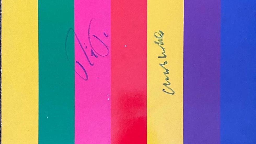 Pet Shop Boys Introspective LP Cover Autographed