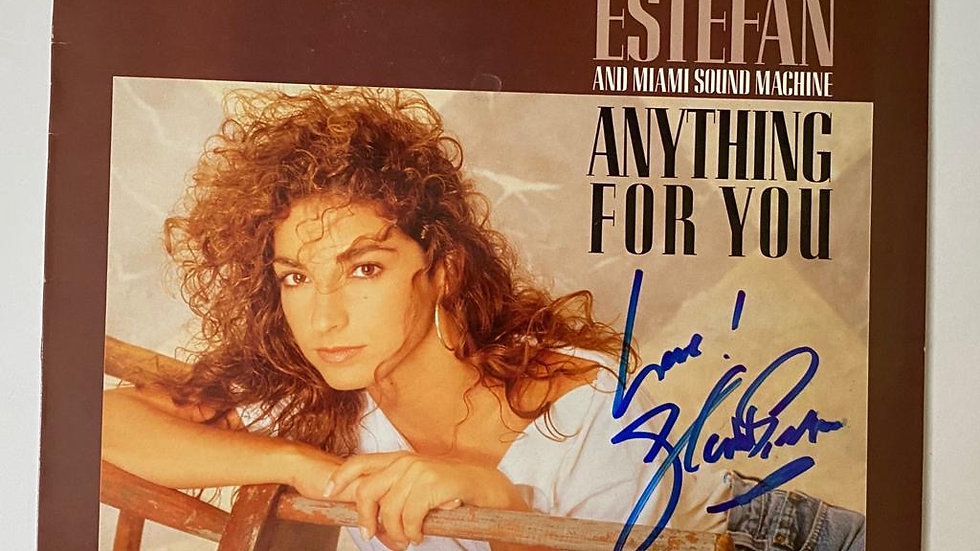 Gloria Estefan Anything For You LP Cover Autographed
