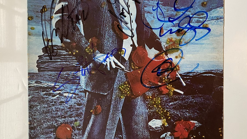 Yes Tormato LP Cover Autographed