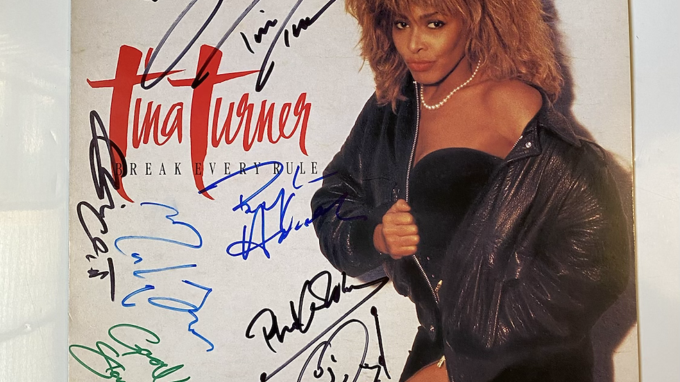 Tina Turner Break Every Rule LP Cover Autographed