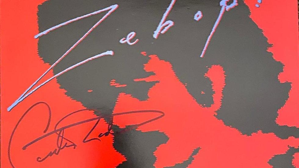 Santana Zebop! LP Cover Autographed