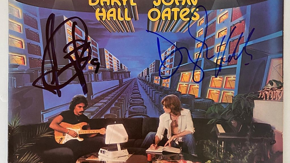 Hall & Oates Bigger Than Both Of Us LP Cover Autographed
