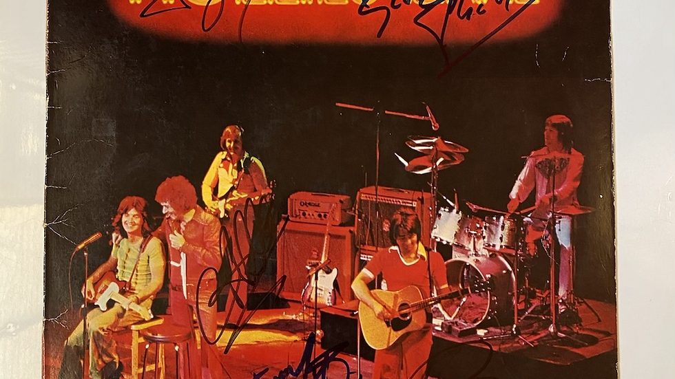 The Hollies Live LP Cover Autographed