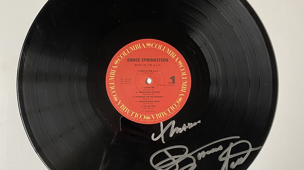 Bruce Springsteen Born In The USA Vinyl Record Autographed