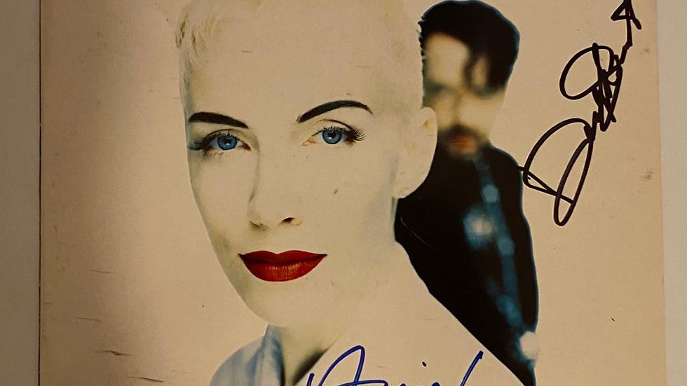 Eurythmics We Too Are Gone LP Cover Autographed