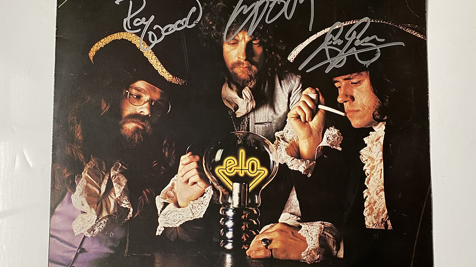 ELO The Light Shines On LP Cover Autographed