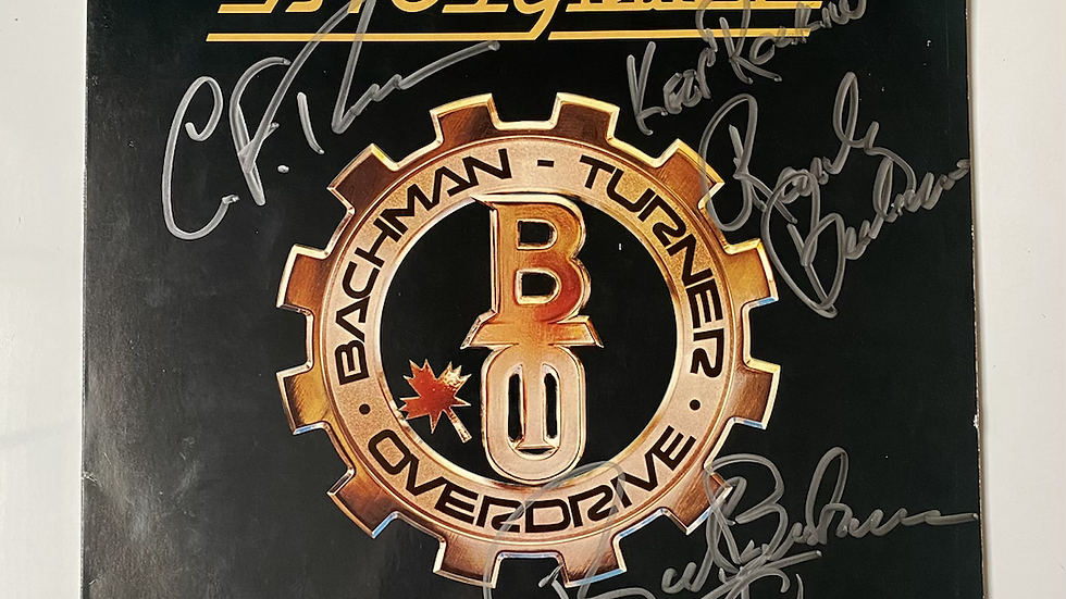 Bachman–Turner Overdrive BTO'S Greatest Hits LP Cover Autographed