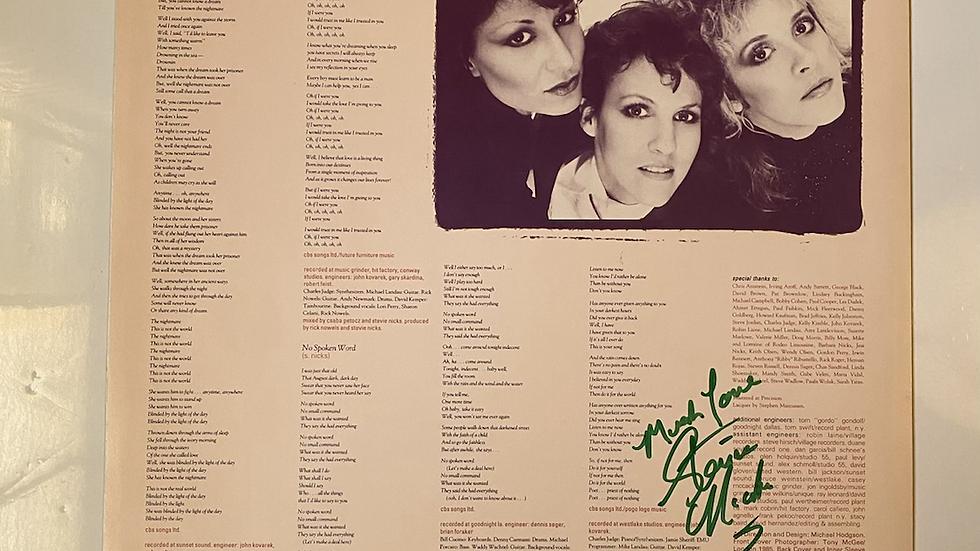 Stevie Nicks Rock A Little Inner Sleeve Autographed