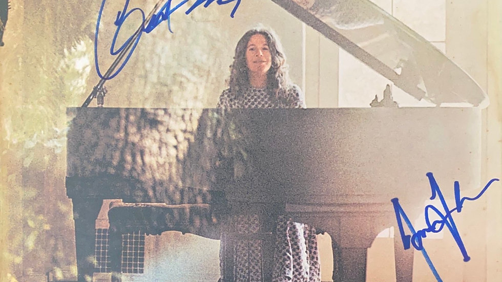 Carole King Music LP Cover Autographed