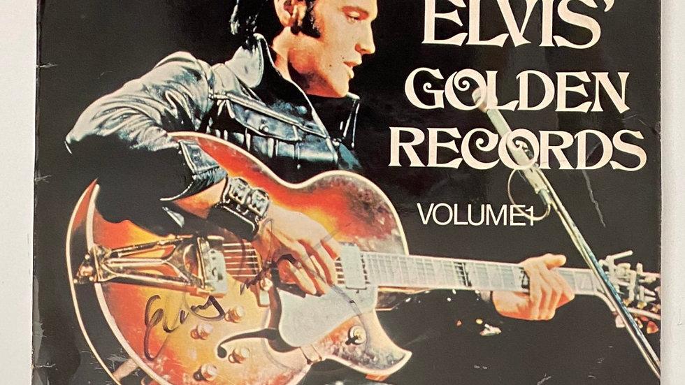 Elvis Golden Records LP Cover Autographed