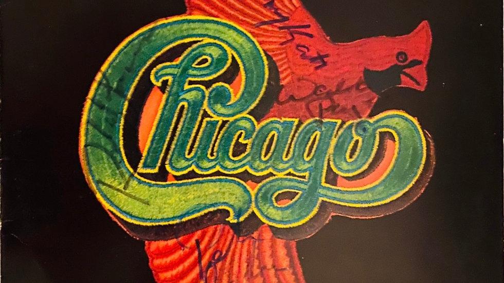 Chicago VIII LP Cover Autographed