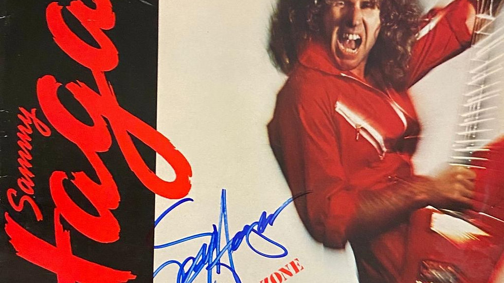 Sammy Hagar Danger Zone LP Cover Autographed
