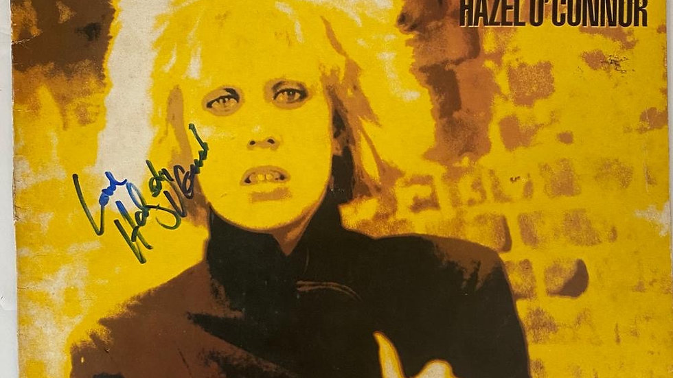 Hazel O'Connor Breaking Glass LP Cover Autographed