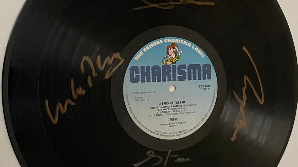 Genesis A Trick of The Tail Vinyl Record Autographed