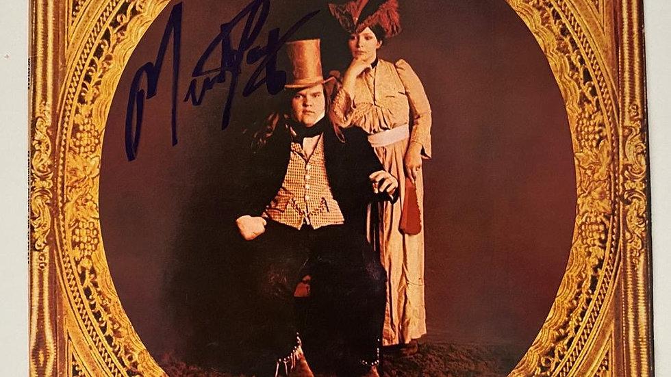 Meatloaf LP Cover Autographed