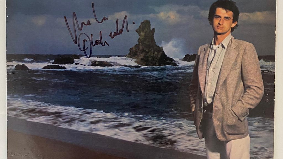 Mike Oldfield Incantations LP Cover Autographed