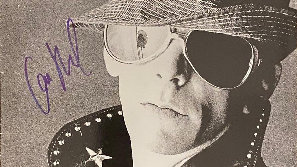 Lou Reed Live LP Cover Autographed