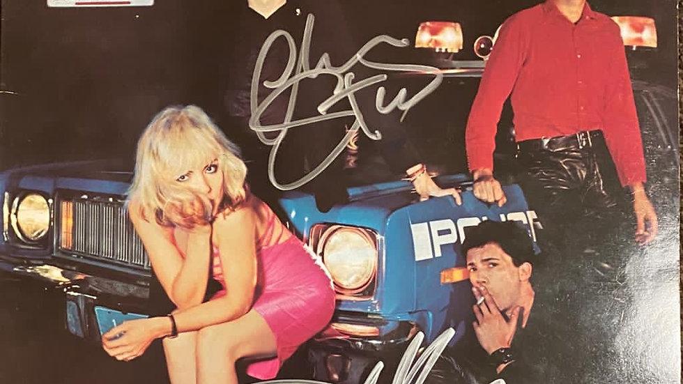 Blondie Plastic Letters LP Cover Autographed
