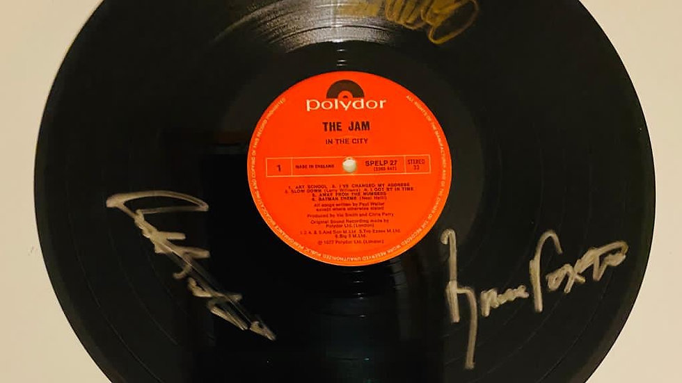 The Jam In The City Vinyl Record Autographed